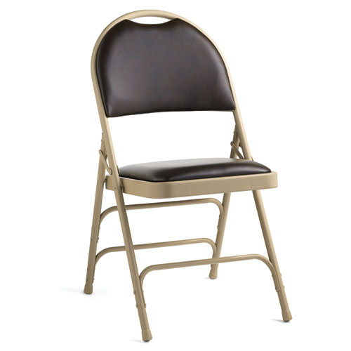 Samsonite Samsonite Leather Memory Foam Padded Folding Chair Comfort Se