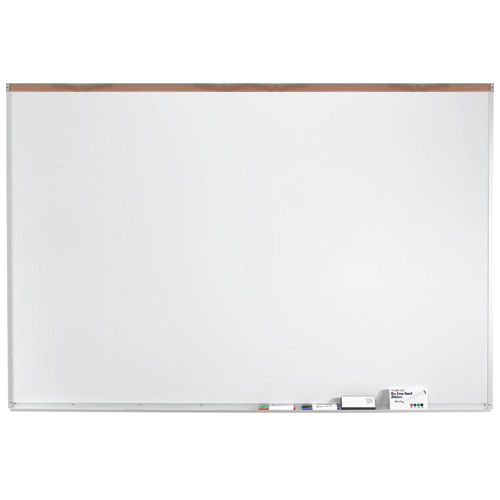 "Porcelain Magnetic White Markerboard with 2"" Maprail"