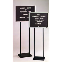 Double Pedestal Letter Boards