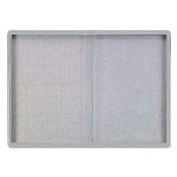Enclosed Fabric Bulletin Boards with Sliding Doors