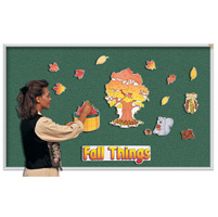 Wall-Mounted Vinyl Tackboards