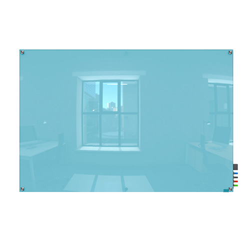 hmysm23be 2 39 x 3 39 harmony magnetic glass whiteboard blue. Black Bedroom Furniture Sets. Home Design Ideas