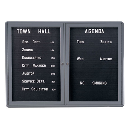 Enclosed Radius Design Changeable Letter Boards with Hinged Doors