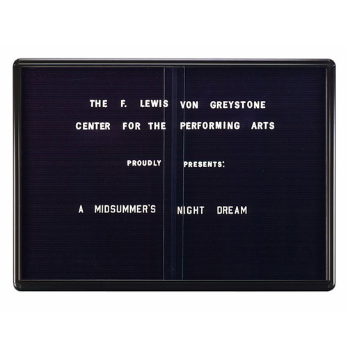 Enclosed Radius Design Changeable Letter Boards with Sliding Doors