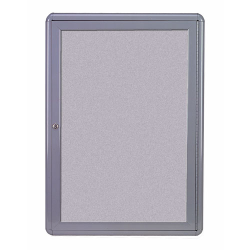 Enclosed Fabric Bulletin Boards with Hinged Doors