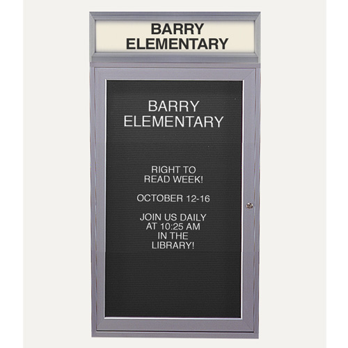 Enclosed Aluminum Changeable Letter Boards