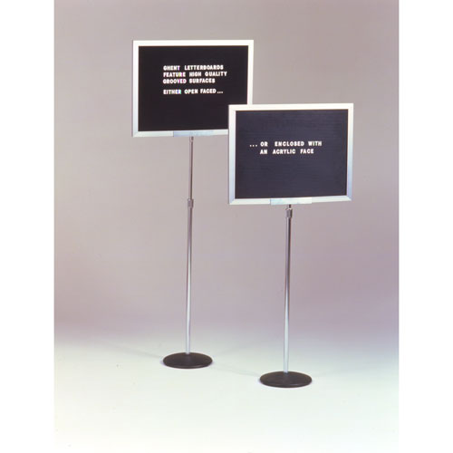 "Ghent 15""H x 20""W Single Adjustable Pedestal Letterboard, Enclosed with Acrylic at Sears.com"