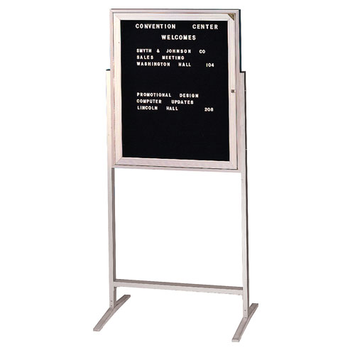 Free Standing Enclosed Letter Boards with Aluminum Frame