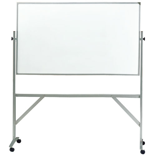 Free Standing Reversible Non-Magnetic Whiteboard with Casters