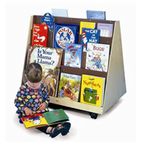 Two-Sided Mobile Book Rack