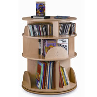 Three-Shelf Multimedia Carousel