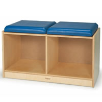 2-Section Bench Locker