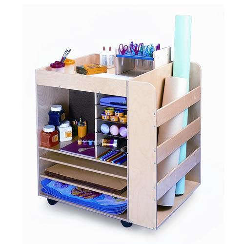 Modular Classroom Suppliers : Rolling art cart