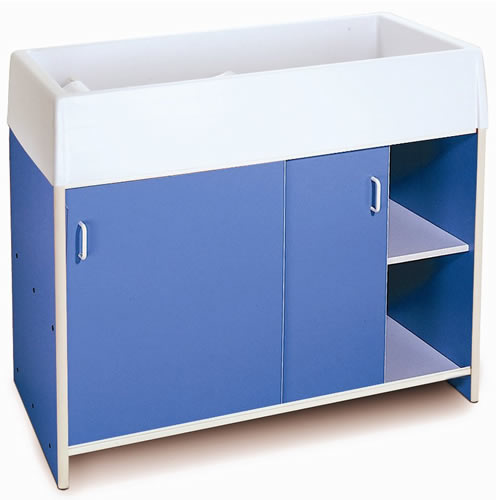 Round-Edge Infant Care Changing Cabinet