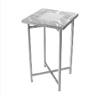 Xcube Aluminum Pedestal Table - With plexiglass insert and NO LED kit