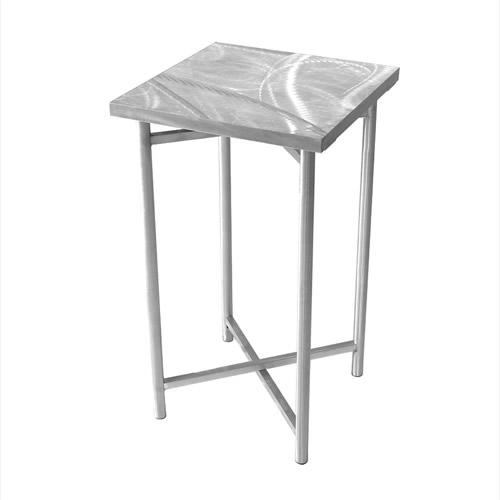 Xcube Aluminum Pedestal Table - NO plexiglass insert and NO LED kit