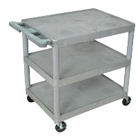 "32""W x 24""D Polyethelene  Flat Shelf Utility Carts"