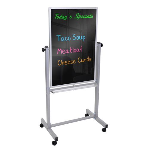 Double Sided Mobile Magnetic Black Markerboard