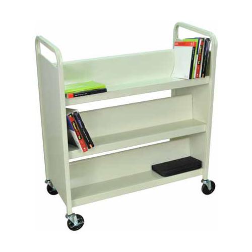 Heavy-Duty Steel Library Book Truck