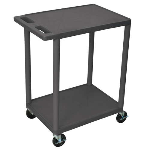 "24""W x 18""D Polyethelene Flat Shelf Utility Carts"