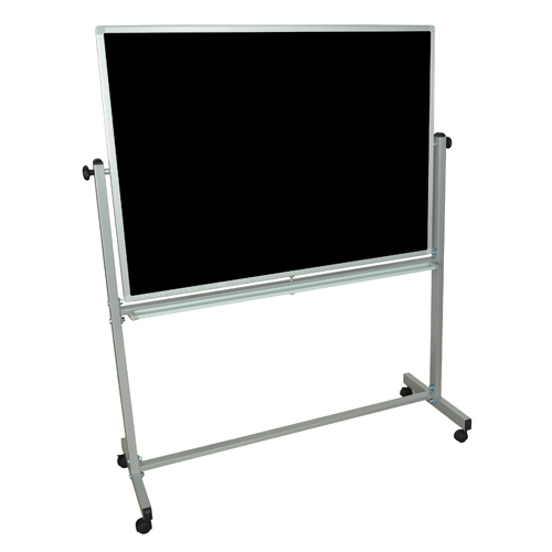 Double Sided Mobile Magnetic Chalk/White Board Combo