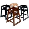 Deluxe Wood High Chair