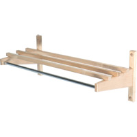 Economy Wood Coat Rack, Hardwood Top Bars