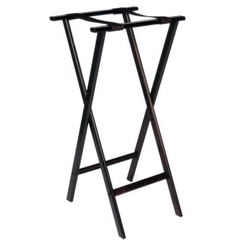 Deluxe Tall Wood Tray Stand