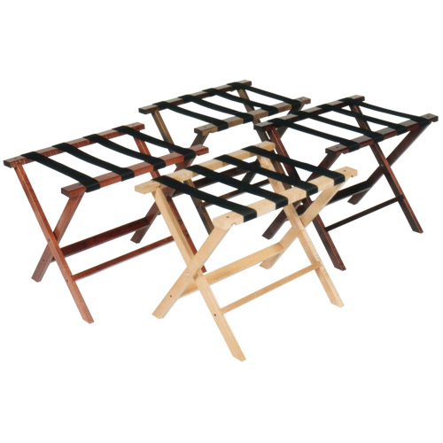 Contemporary Hotel Wood Luggage Rack