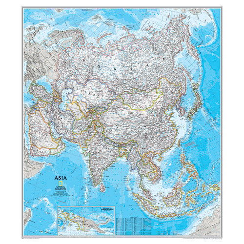 Asia Wall Maps