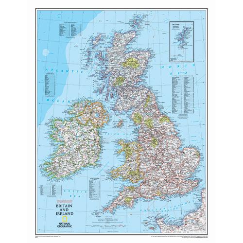 Britian and Ireland Wall Map