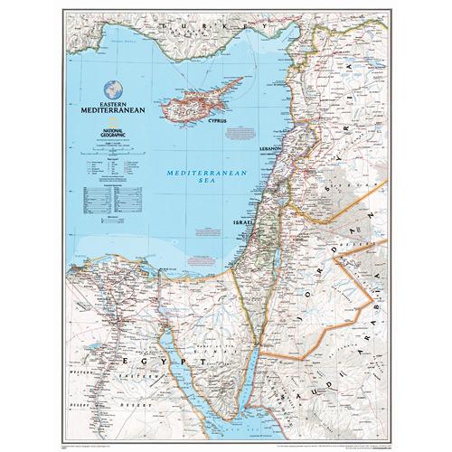 Eastern Mediterranean Wall Map
