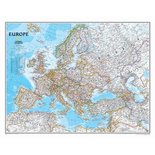 Europe Classic Wall Maps