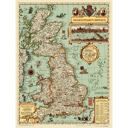 Shakespeares Britain Wall Map