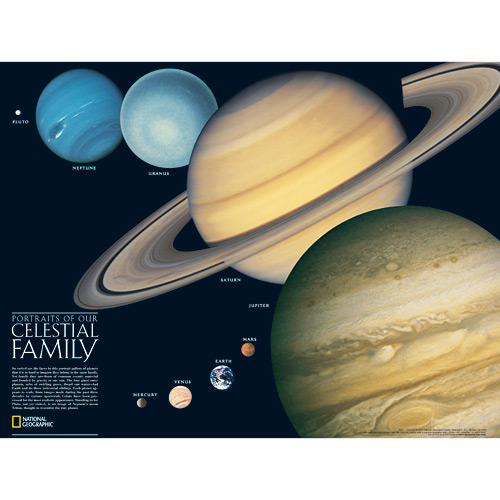 The Solar System, 2-Sided - Space