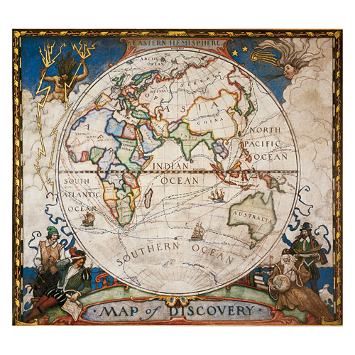 Wall Maps - Map of Discovery