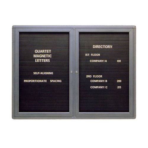 Quartet® Radius Design Magnetic Changeable Letter Directories
