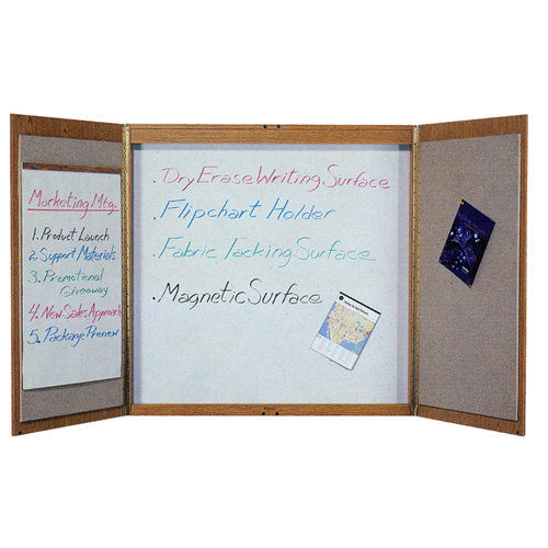 Quartet® Laminate Conference Room Cabinets with a Total Erase® Porcelain Writing Surface
