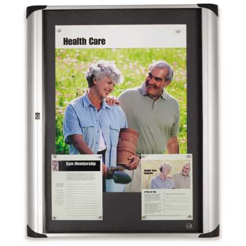 Quartet® Euro™ Enclosed Magnetic Bulletin Board