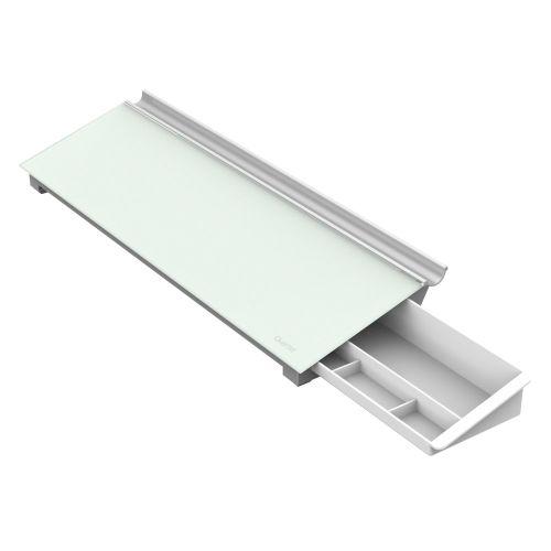 Glass Dry-Erase Desktop Computer Pad