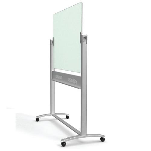 ecm43g infinity white glass dry erase board portable easel