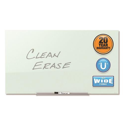 InvisaMount&#153 Magnetic Glass Dry-Erase Board