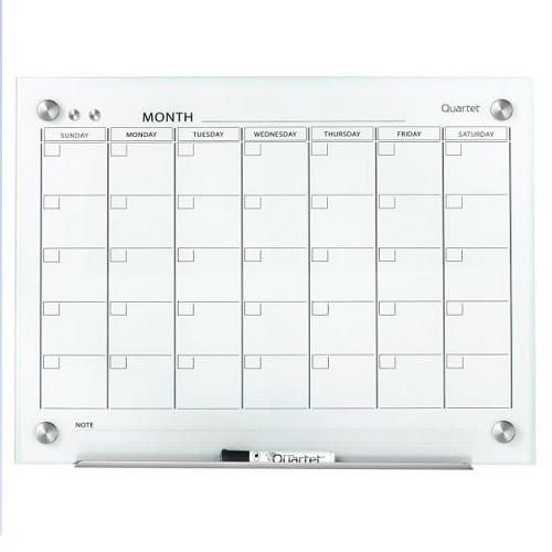 Infinity™ Magnetic Calendar Glass Dry-Erase Board