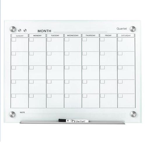 Dry Erase Calendar Canada : Infinity™ magnetic calendar glass dry erase board