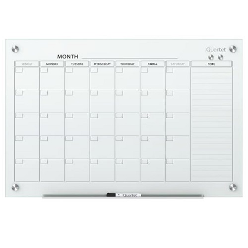 Infinity™ Magnetic Calendar Glass Dry-Erase Board