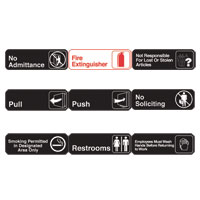 "3"" x 9"" All Purpose Signs"