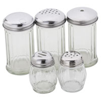 Glass Base Shakers and Pourers