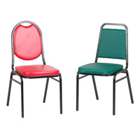 Square and Round Back Stacking Chairs