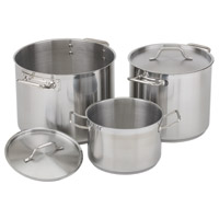 Stainless Steel Stock Pots and Replacement Covers