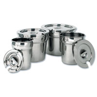Stainless Steel Vegetable Insets and Lids